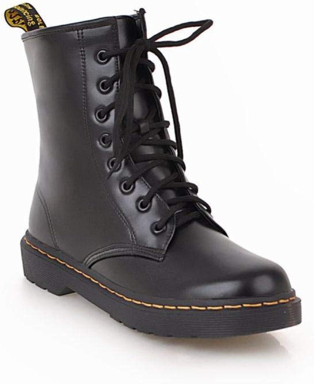 XQY Damen Stiefel - Martin Martin Martin Stiefel Stiefelies   Dick Mit Britischen Wind Lace Stiefel Low Heel Kurze Stiefel 34-43  7b09c5