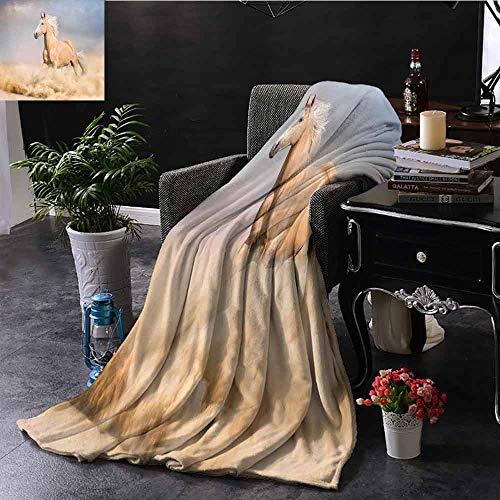 GGACEN bont gooien deken Mustang Herd Galloping Samen Dier Silhouettes Wildlife Abstract voor bed & bank Sofa Easy Care