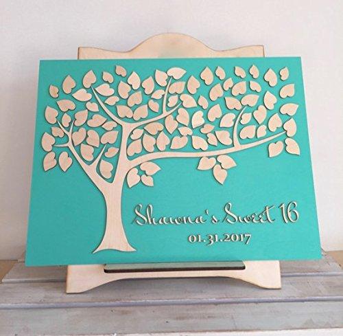 Sweet 16 Gästebuch Fledermaus-Bar Mitzwa Geburtstag oder Baby Taufe Tree of Wishes Sweet 16 Party...