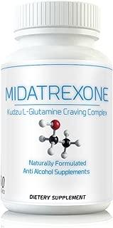 M Trexone - Anti-Alcohol & Alcohol Support Supplement Natural Alcohol Cravings Support Detox KUDZU L Glutamine Folate Niacin Biotin B Vitamins Folic Acid Best Control Formula