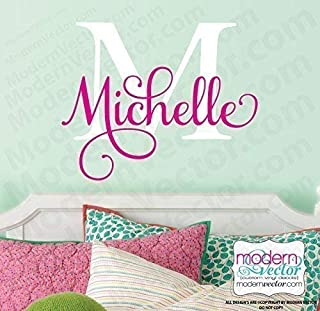 Custom Monogram Name Wall Decal Sticker Personalized Name Decal Nursery Wall Decal Baby Girls room Boys Room Wall Art Sticker