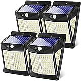DOOK Luz Solar Exterior,【4 Pack / 3 Modos】 Luces LED Solares...
