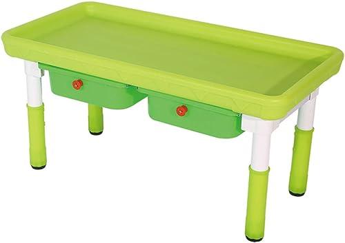 Kinder Früherziehung Schreibtisch Stuhl Kunststoff Baustein Spielzeug Tisch Kinder P gogische Studie Tisch Und Stuhl Haushalt Kinder Esstisch Und Stuhl (Farbe   Grün, Größe   60  120  5cm)