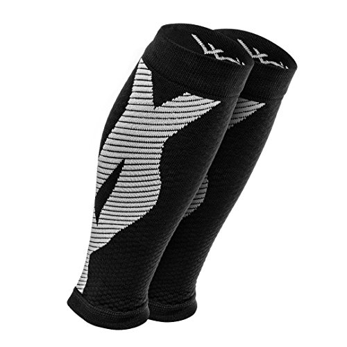 Calf Compression Sleeve (1-Pair): Premium Leg Compression Socks For Men & Women. Guaranteed Performance - Best Support Brace For Running, Shin Splints, Cross Training, Pain Relief, & More! (Large)
