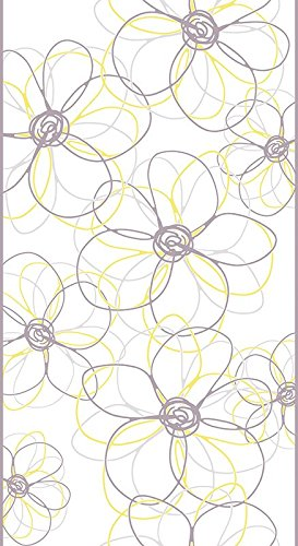 Livingwalls selbstklebendes Panel pop.up Panel 2,50 m x 0,35 m gelb grau weiss 942531