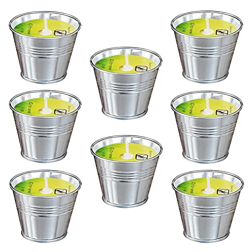macoya 8 Pack Citronella Candles, Soy Wax Scented Candles, 80-120 Burning Hours Candles for Indoors, Outdoors, Garden, Camping