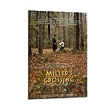 ASDWE Póster de Miller's Crossing de 1990 y arte de pared vintage clásico de película para televisión, póster retro de 30 x 45 cm