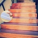 Escalera Antideslizante, ONTWIE 15 * 60cm Transparente Pisadas de Escaleras Antideslizantes de Seguridad, Antideslizantes Tracción Escaleras de Seguridad, Cinta Adhesiva para Escalera