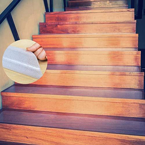 Escalera Antideslizante, ONTWIE 15 * 60cm Transparente Pisadas de Escaleras Antideslizantes de Seguridad, Antideslizantes...