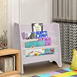 Holdfiturn Sling Bookcase 60x26.5x61cm Children Storage Children's Bookcase Children Bedroom Playroom Bookshelf