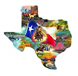 Images of Texas Shaped 1000 pc Jigsaw Puzzle by SunsOut
