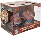 Blue Hat Toy Company RC Sumo King Wrestling. 2 Sumo Wrestler Fighters and Wireless Controls, Battery-Power Bumper Duelers, Built-In Sound Effects, Fun 2-Player Toy for Kids or White Elephant Gift