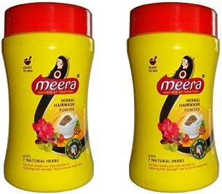 2 x Meera Herbal Hairwash Powder With 7 Natural Herbs - 120g
