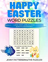 HAPPY EASTER WORD PUZZLES: LARGE-PRINT JUMBLES, WORD SEARCH & CROSSWORDS (PUZZLER)