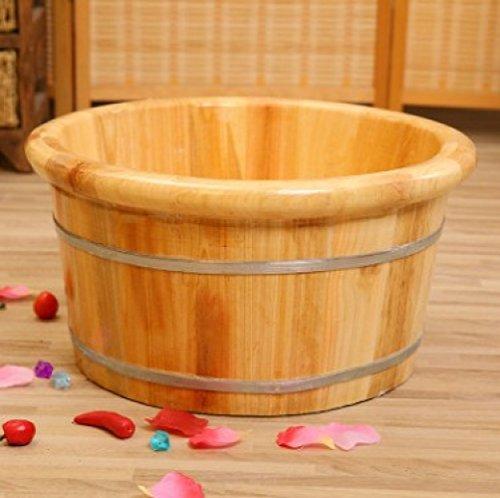 ERHANG Footbath Massage Bassin Pieds Pieds Baignoire Baignoire Pied Vapeur Solide Bois Maison Adulte Chauffage Spa De Pédicure Bain De Pieds Bain De Pieds Fût De Chêne