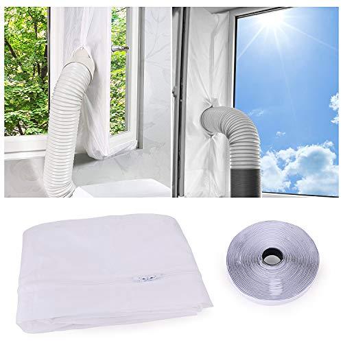 FORMIZON Fensterabdichtung für Mobile Klimageräte, Klimaanlagen, Wäschetrockner und Ablufttrockner, Hot Air Stop Passend zum Anbringen an Fenster, Dachfenster, Flügelfenster (300CM)