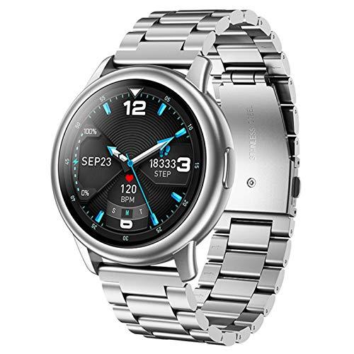 VBF Smart Watch, IP68 Impermeable, LF28 Carga magnética, con Brazalete de Fitness BT5.0 Reloj para Hombres para Android iOS,A