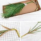 Vosarea Künstliche Zweige Kunstpalmen 9 Zweige Foto Requisiten Lebensecht Blätter Indoor Outdoor Haus Garten Hochzeit Party Dekoration - 5