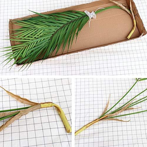 Vosarea Künstliche Zweige Kunstpalmen 9 Zweige Foto Requisiten Lebensecht Blätter Indoor Outdoor Haus Garten Hochzeit Party Dekoration - 7