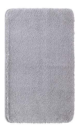 Home and Home Badmat uit de collectie CASA van 100% polyester microvezel - verschillende maten - kleur: zilver