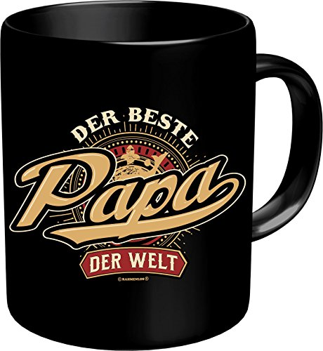 RAHMENLOS Original Kaffeebecher für den besten Vater: Der Beste Papa der Welt - Im Geschenkkarton 2631