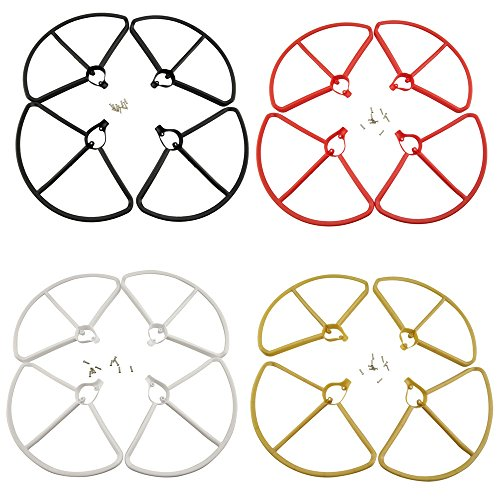 Upgrade Propeller Prop Guards Protectors Bumpers for Hubsan H501S H501C X4 Drone RC Quadcopter Spare Parts (4 Colors Set)