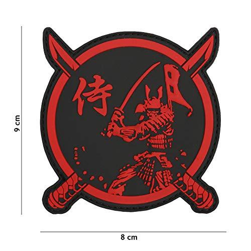 Parche Patch 3D PVC - Guerrero Samurai - Dim. 8,0 x 9,0 cm.