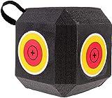 Flecha 3D de 6 Lados Target Cube Foam Target,Diana de Doble Arco Reutilizable portátil autocurativo, Cubo Tecnología de polifusión Dados Grandes Objetivo de Espuma. (Material EVA, Verde.)