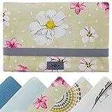 Windeltasche für unterwegs, kleine Wickeltasche für Windeln & Feuchttücher, Windeletui, Wickelmäppchen SmukkeDesign (Bird Rose & Romance)