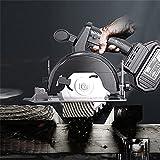 Alunyan Kit de scie circulaire sans fil à angle biseauté (0 à 45 °), coupe de joint, profondeur de coupe réglable pour bois et bûches Taille : A