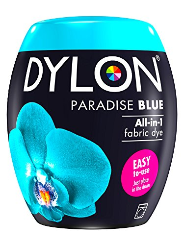 Dylon Maschine Dye Pod, Paradise Blue, 8.5 x 8.5 x 9.9 cm
