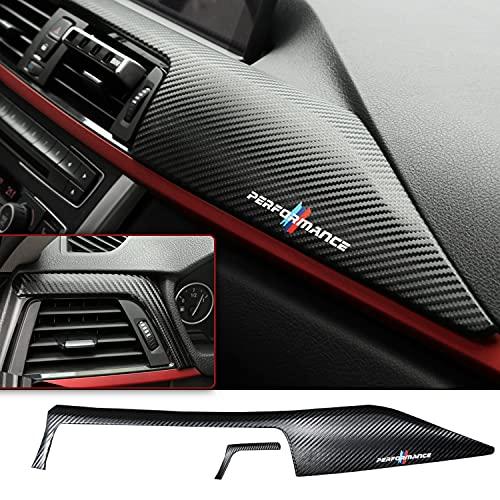 Auto Armaturenbrett Abdeckung Aufkleber Zubehör kompatibel für 3 4 Series F30 F31 F32 F34 F36 3GT (Carbon Fiber Texture)