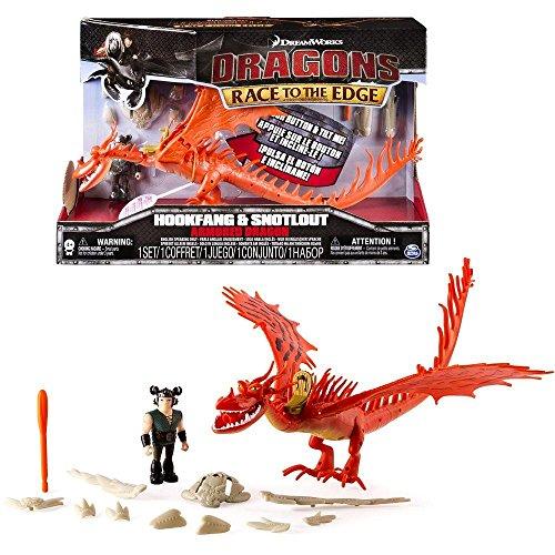 Dragons - Action Spiel Set - Armored Drachen Hakenzahn Hookfang mit Sound
