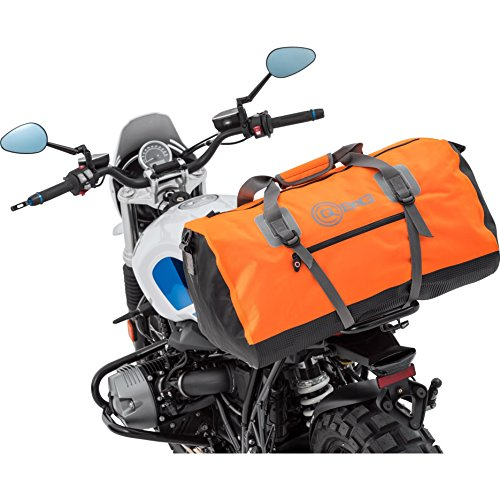 QBag Motorcycle Rear Bag / Luggage Roll Waterproof 11, Universal, Slip Pockets, Robust Base, Stable Stand, Universal Fit, Orange, 80 Litres
