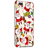 Surakey Silikon Hülle für Xiaomi Mi A1 Hülle,Xmas Christmas Weihnachten Schneeflocke Muster Ultra Dünn Durchsichtig TPU Silikon Handyhülle Schutzhülle Case Cover für Xiaomi Mi A1