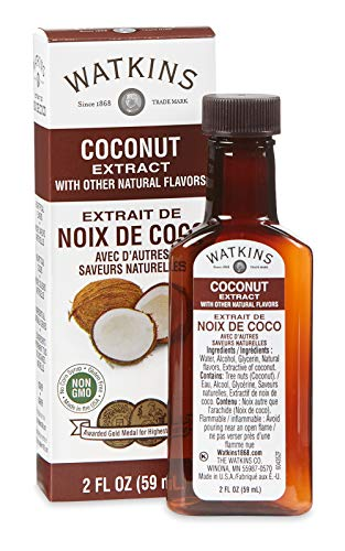 Watkins Coconut Extract with Other Natural Flavors, 2 oz. Bottles, Pack of 6 (Packaging May Vary)