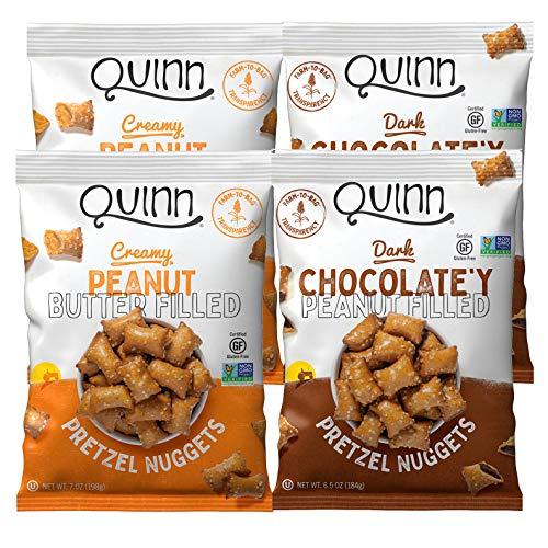 Quinn Peanut Butter Filled Pretzels Variety Pack, 6.5 Oz Bags (4 Count)