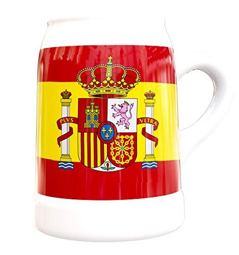 FCB - Caraffa da Birra con Bandiera Spagna 50 CL