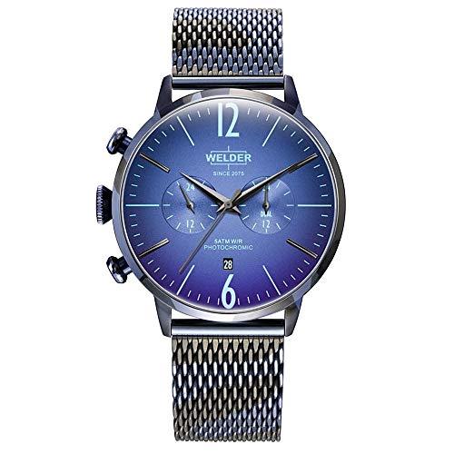 Reloj Welder WWRC1015 Smoothy Hombre Azul Acero