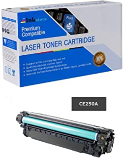 Inksters Compatible Black Toner Cartridge Replacement for HP 504A (CE250A) Black - Compatible with Color Laserjet CP3525 CP3525N CP3525DN CP3525X CM3530 CM3530FS MFP