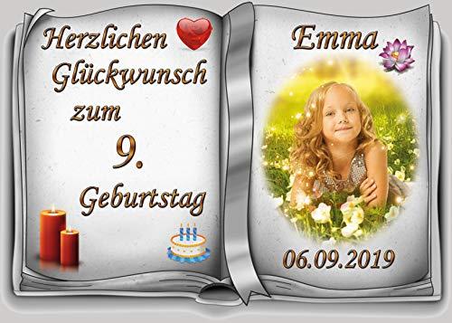 Tortenaufleger Fototorte Tortenbild zum Geburtstag Buchform DIN A4 G29 (Zuckerpapier)