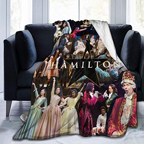 Coperta morbida Ha-mil-ton in pile per donna, uomo, ragazzo, per sedia, divano, letto, auto, casa, ufficio, leggero, regalo 152,4 x 127 cm