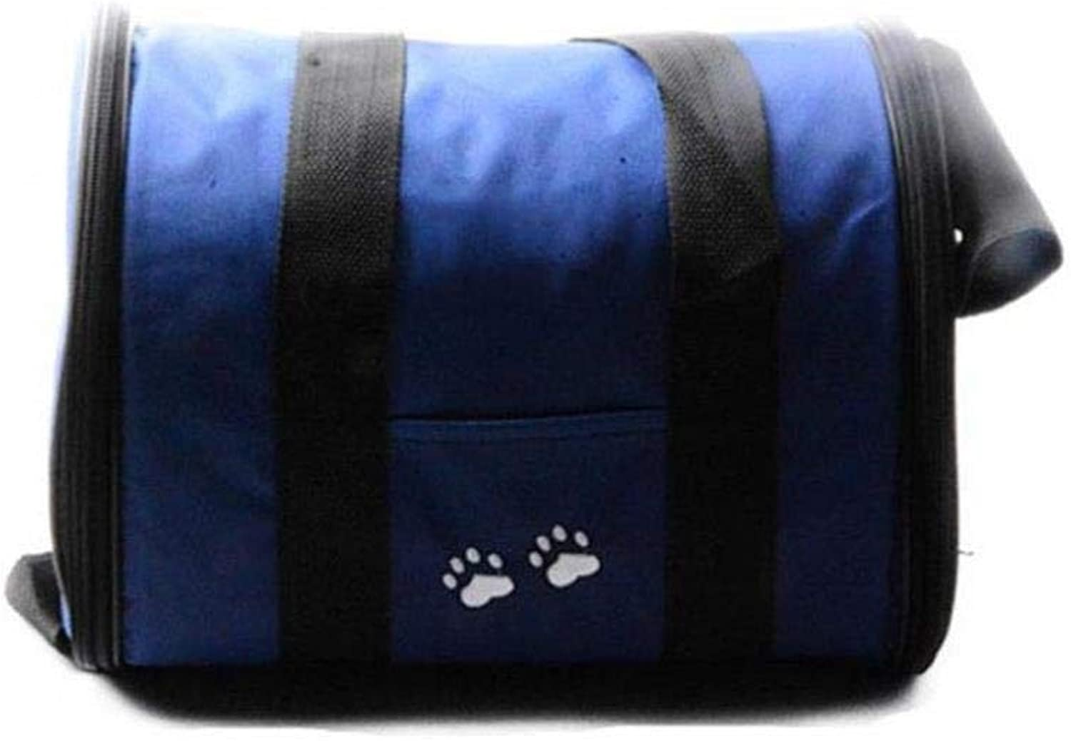 Outdoor Folding Portable Travel Bag Large-Capacity Pet Backpack Shoulder Breathable Non-Slip Bag zbbSwza (color   blueee, Size   L)