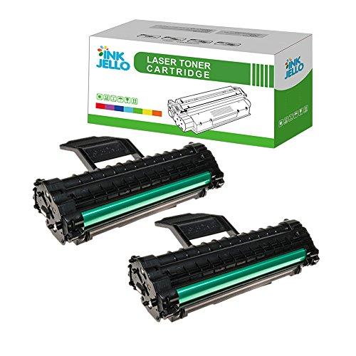 InkJello kompatibe Toner Patrone Ersatz für Samsung ML-1610 ML-1615 ML-1620 ML-1625 ML-2010 ML-2015 ML-2020 ML-2510 ML-2570 ML-2571N SCX-4321 SCX-4521F ML1610D3 (Schwarz 2-Pack)