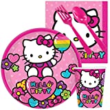 Costume SuperCenter Hello Kitty Rainbow Birthday Party Standard Tableware Kit Serves 8