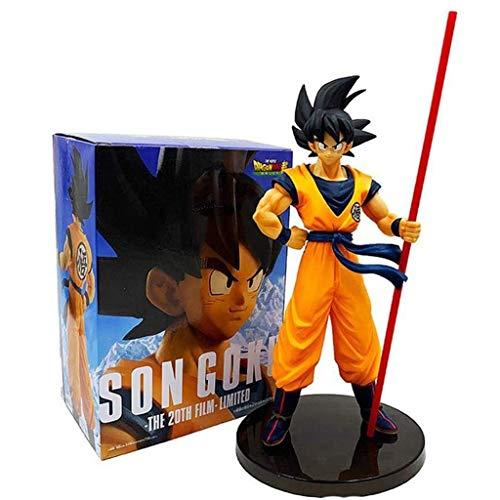 GOXJNG Anime Figur Dragon Ball Action Figure Son Goku Kakarotto 27cm Welt Erster Kampfkunstverband Jubiläum...