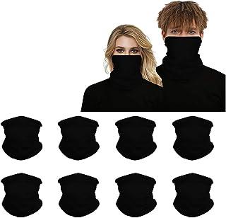 Headwear 8PCS Seamless Balaclava Bandanas Face Mask, Headband Scarf Headwrap Neckwarmer for Women Men for Motorcycling, Riding, Outdoors, Fishing