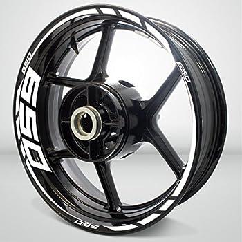 Stickman Vinyls Gloss White Motorcycle Rim Wheel Decal Accessory Sticker Compatible with Kawasaki Ninja 650