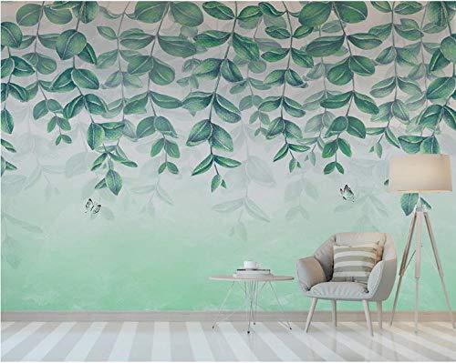 Hojas mariposa papel pintado mural dormitorio sala de estar hogar fondo pared 430×300cm