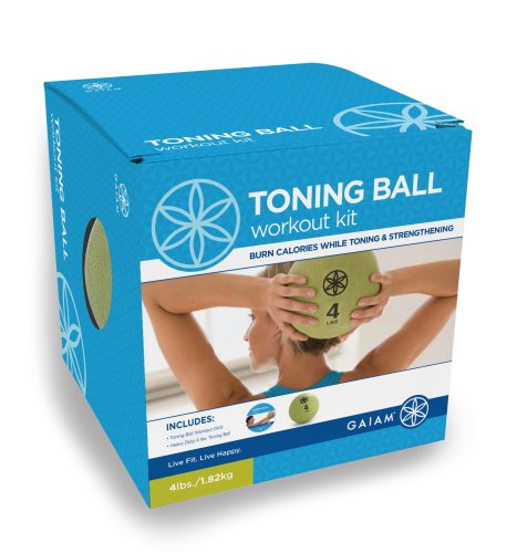 Gaiam Toning Ball Workout Kit (Includes: 4Lb Medicine Ball & Dvd)